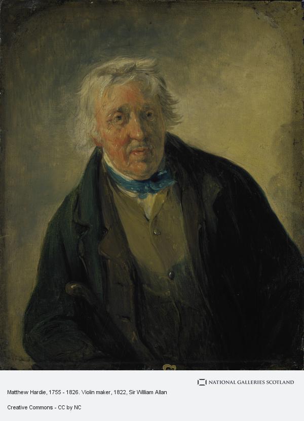 Sir William Allan, Matthew Hardie, 1755 - 1826. Violin maker (About 1822)