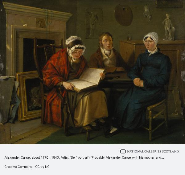 Alexander Carse, Alexander Carse, about 1770 - 1843. Artist (Self-portrait) (Probably Alexander Carse with his mother and sister) (About 1795)