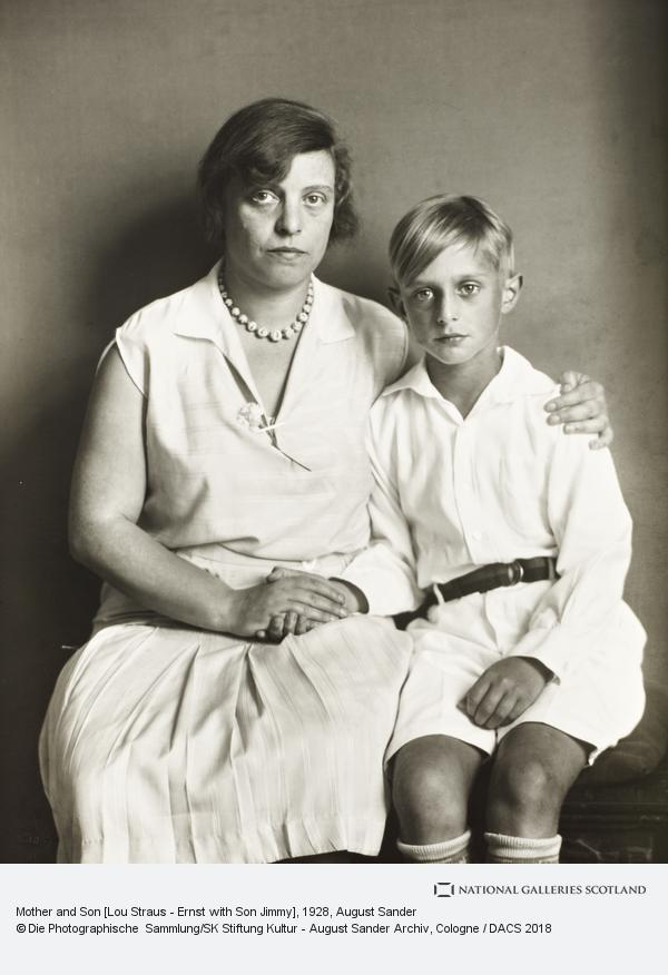 August Sander, Mother and Son [Lou Straus-Ernst and her son Jimmy], 1928 (1928)