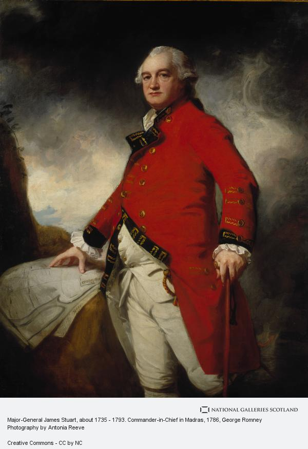 George Romney, Major-General James Stuart, about 1735 - 1793. Commander-in-Chief in Madras