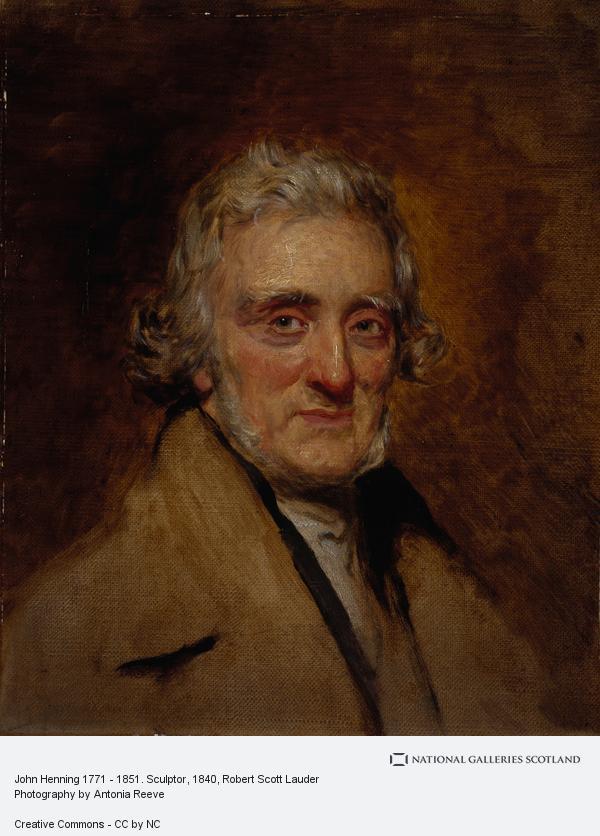 Robert Scott Lauder, John Henning, 1771 - 1851. Sculptor (About 1840)