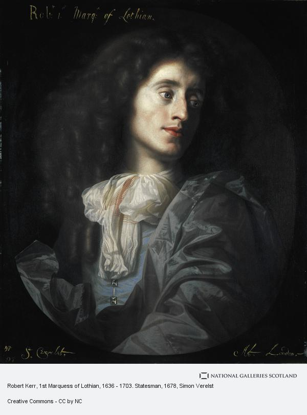 Simon Verelst, Robert Kerr, 1st Marquess of Lothian, 1636 - 1703. Statesman (About 1678)