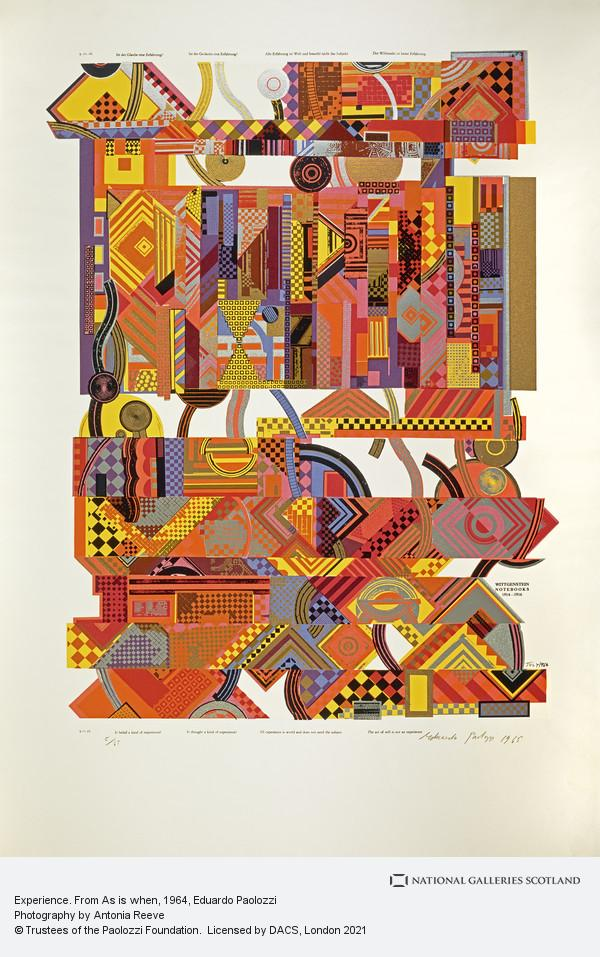 Eduardo Paolozzi, Experience. From As is when
