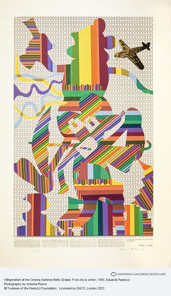 Eduardo Paolozzi, Wittgenstein at the Cinema Admires Betty Grable. From As is when