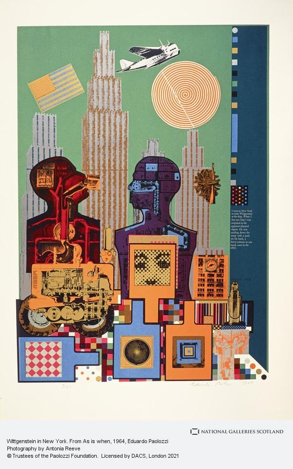 Eduardo Paolozzi, Wittgenstein in New York. From As is when