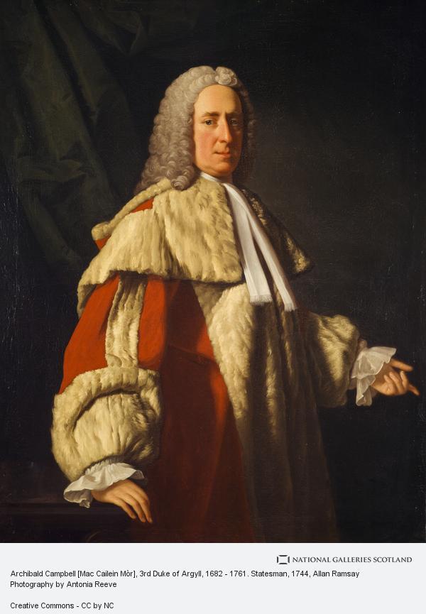 Allan Ramsay, Archibald Campbell [Mac Cailein Mòr], 3rd Duke of Argyll, 1682 - 1761. Statesman (1744)