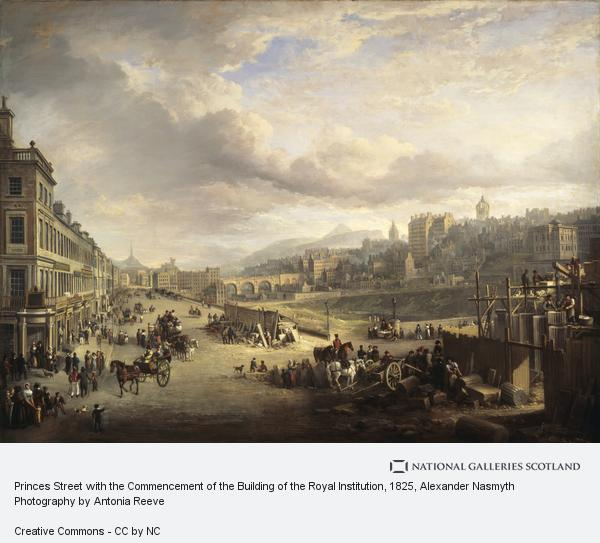 Alexander Nasmyth, Princes Street with the Commencement of the Building of the Royal Institution