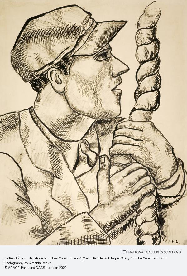 Fernand Léger, Le Profil à la corde: étude pour 'Les Constructeurs' [Man in Profile with Rope: Study for 'The Constructors']