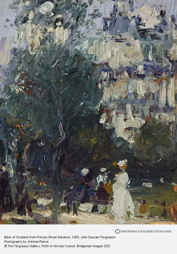 John Duncan Fergusson, Bank of Scotland from Princes Street Gardens (About 1900)