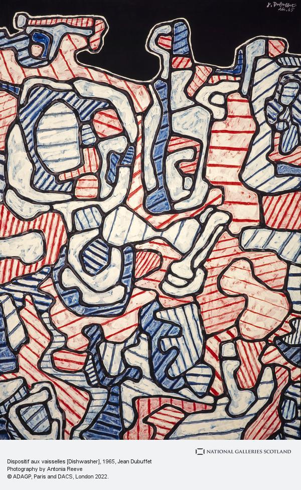 Jean Dubuffet, Dispositif aux vaisselles [Dishwasher]