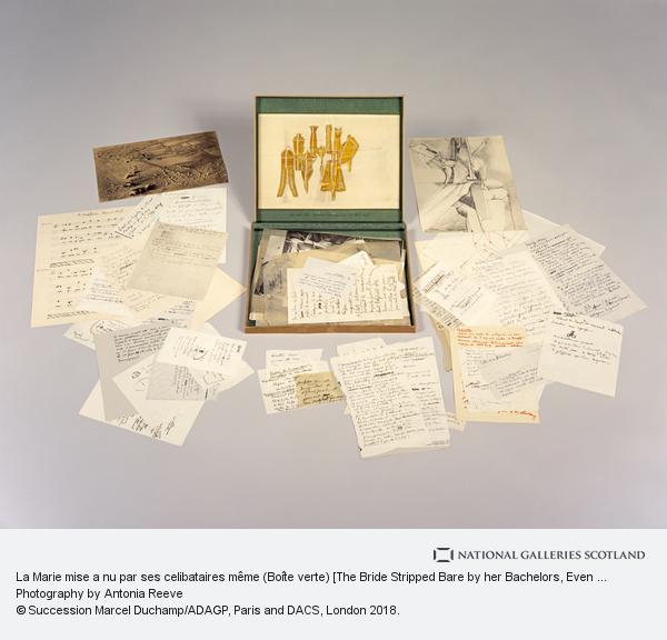 Marcel Duchamp, La Marie mise a nu par ses celibataires même (Boîte verte) [The Bride Stripped Bare by her Bachelors, Even (The Green Box)]