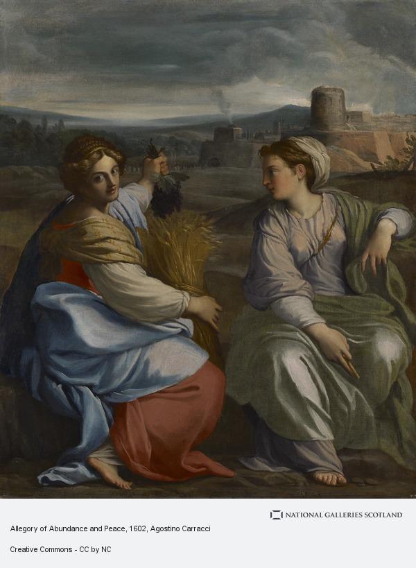 Agostino Carracci, Allegory of Abundance and Peace