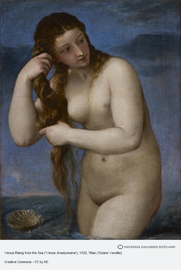 Titian (Tiziano Vecellio), Venus Rising from the Sea ('Venus Anadyomene') (About 1520)