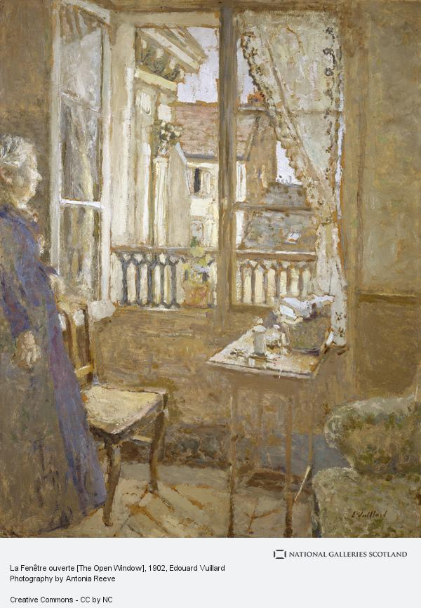 Edouard Vuillard, La Fenêtre ouverte [The Open Window] (About 1902 - 1903, reworked 1915)