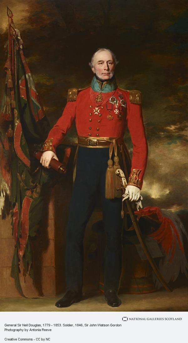 Sir John Watson Gordon, General Sir Neil Douglas, 1779 - 1853. Soldier