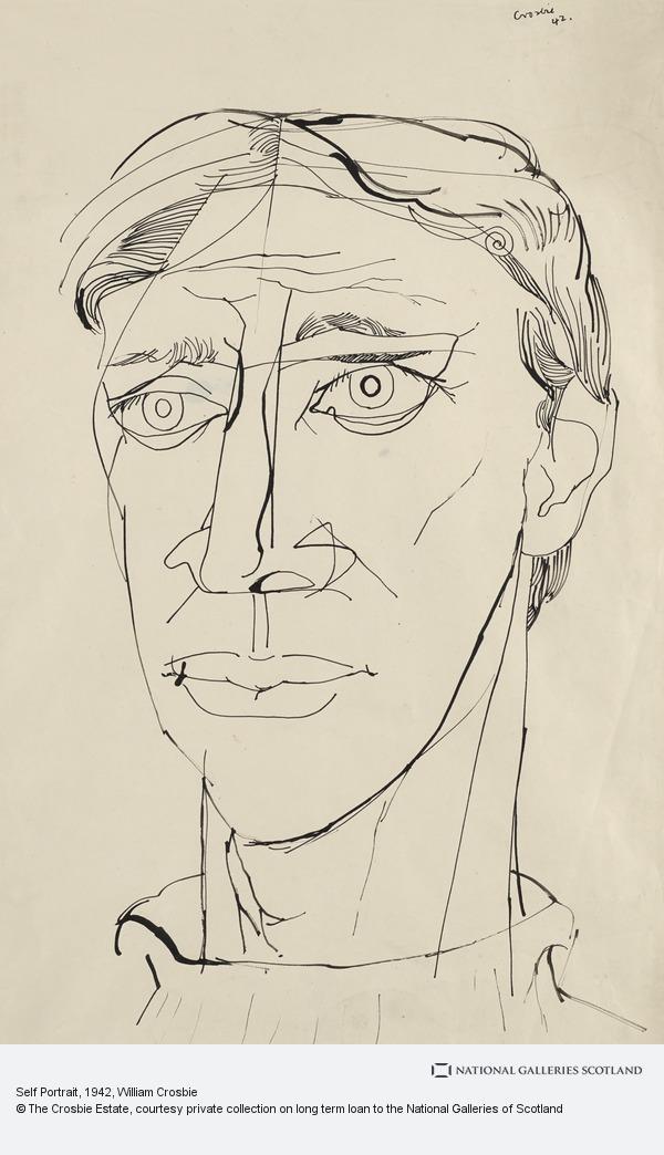 William Crosbie, Self Portrait