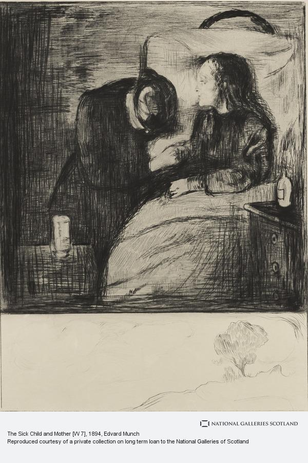 Edvard Munch, The Sick Child and Mother [W 7]