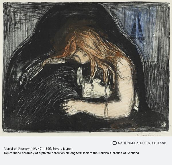 Edvard Munch, Vampire I (Vampyr I) [W 40]