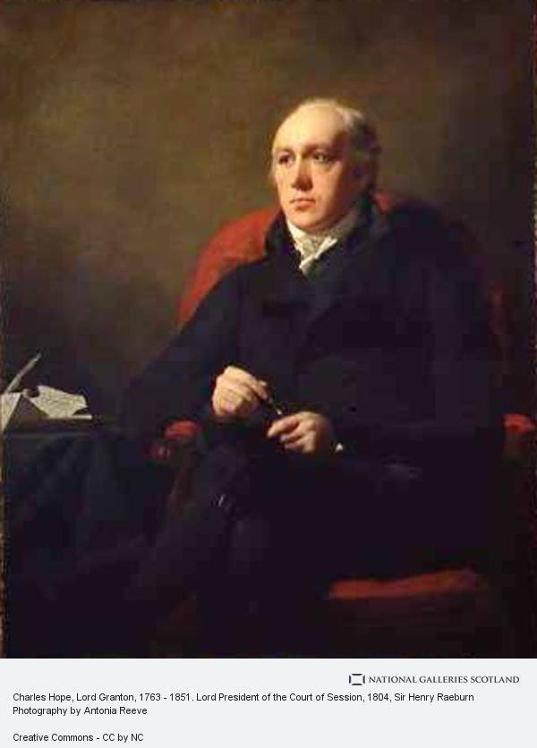 Sir Henry Raeburn, Charles Hope, Lord Granton, 1763 - 1851. Lord President of the Court of Session