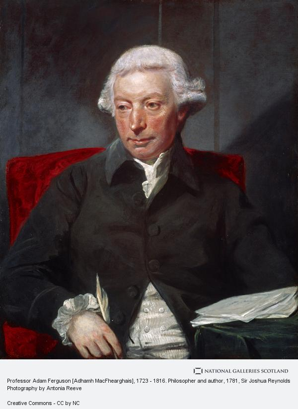 Sir Joshua Reynolds, Professor Adam Ferguson [Adhamh MacFhearghais], 1723 - 1816. Philosopher and author