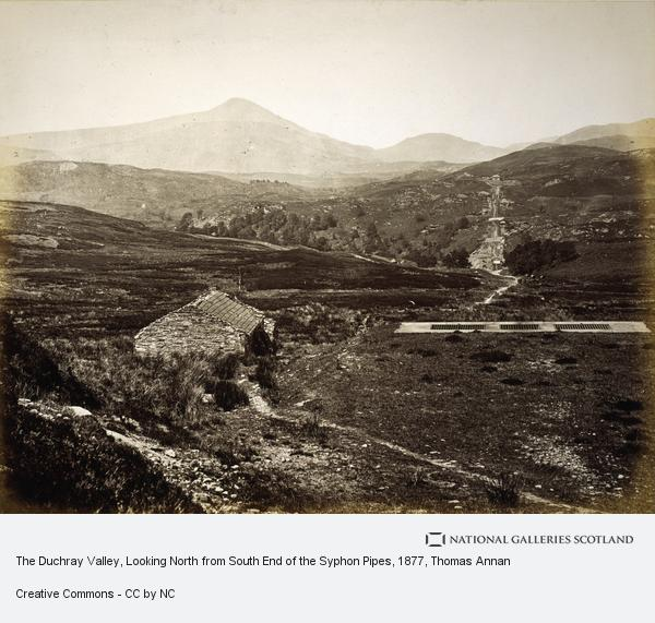Thomas Annan, The Duchray Valley, Looking North from South End of the Syphon Pipes (Published 1877)