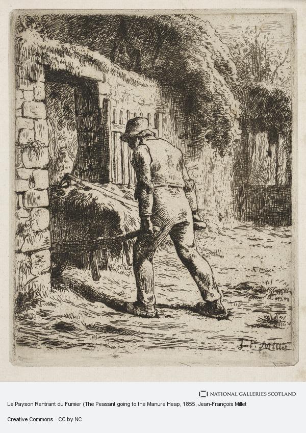 Jean-Francois Millet, Le Payson Rentrant du Fumier (The Peasant going to the Manure Heap