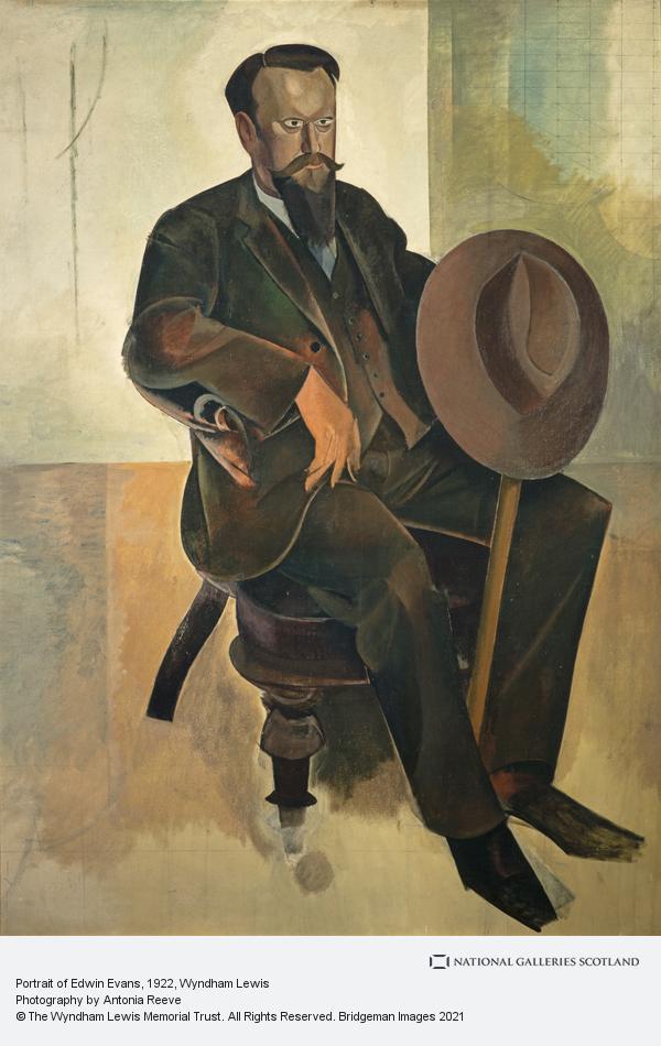Percy Wyndham Lewis, Portrait of Edwin Evans