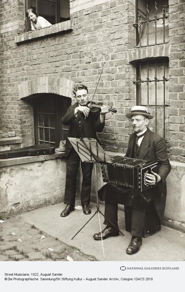 August Sander, Street Musicians, 1922-28 (1922 - 1928)