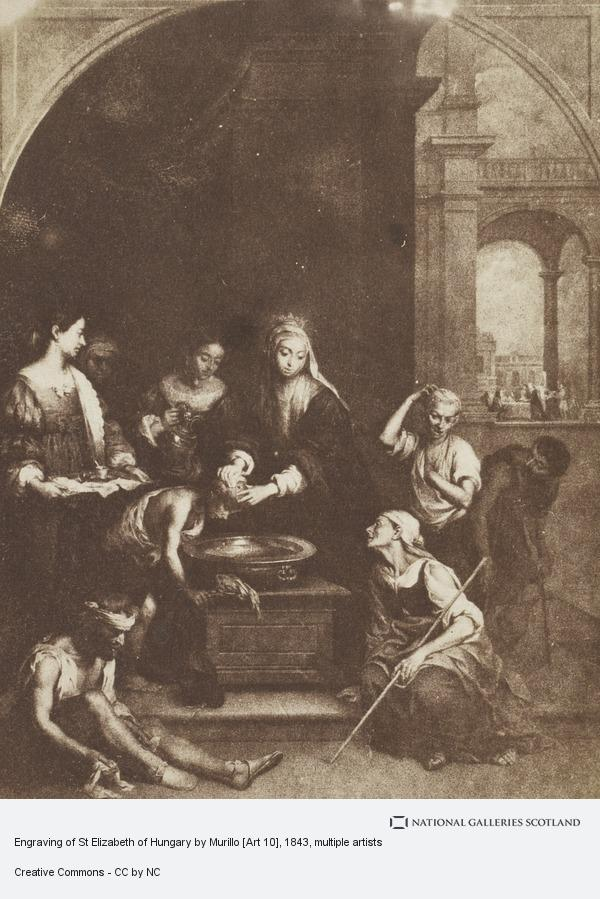 David Octavius Hill, Engraving of St Elizabeth of Hungary by Murillo [Art 10]