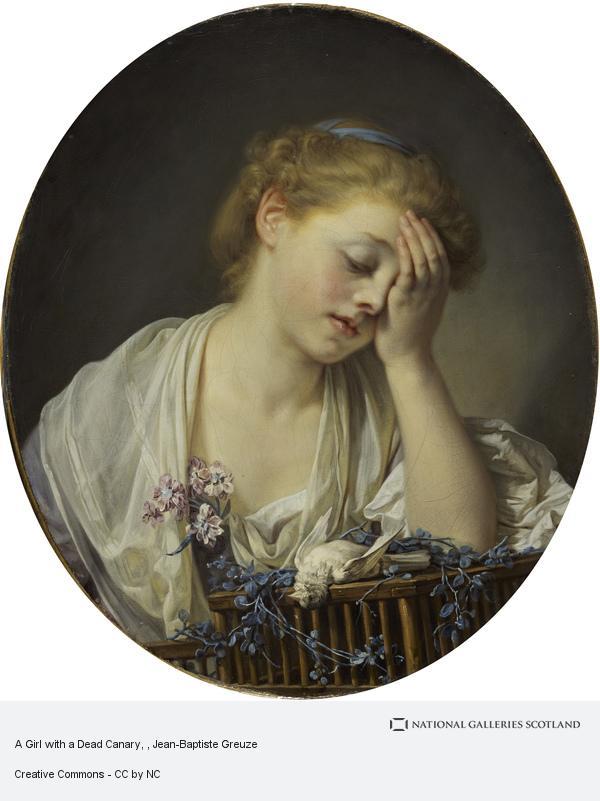 Jean-Baptiste Greuze, A Girl with a Dead Canary