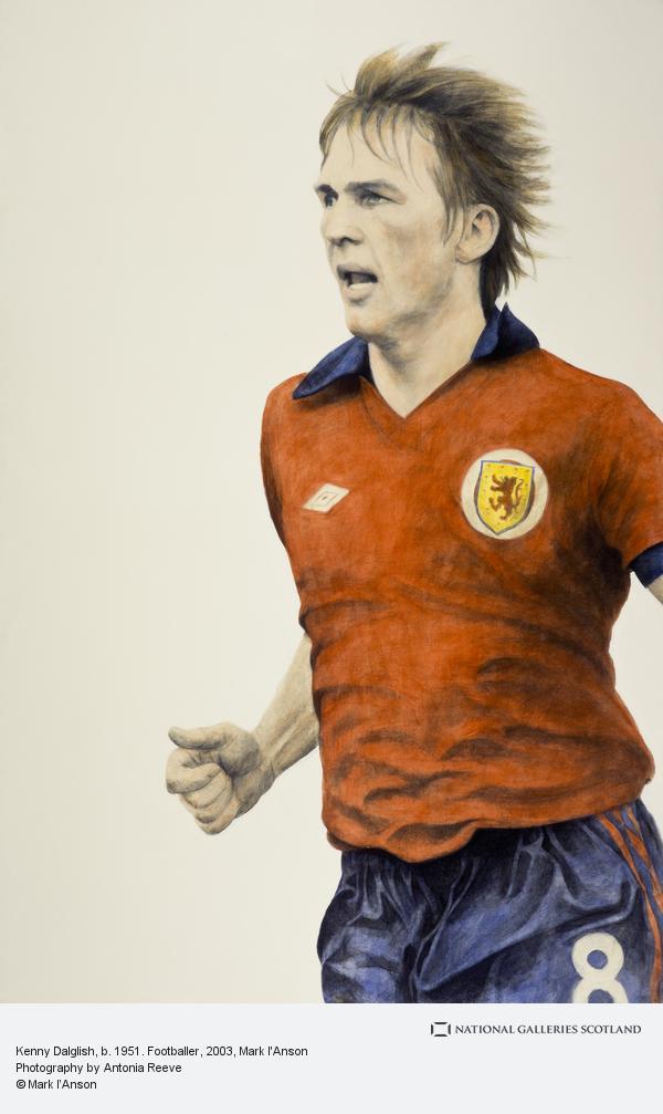 Mark I'Anson, Kenny Dalglish, b. 1951. Footballer