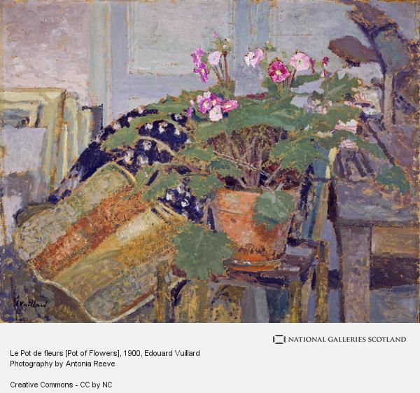 Edouard Vuillard, Le Pot de fleurs [Pot of Flowers]