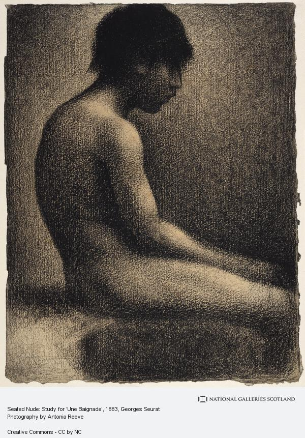 Georges Seurat, Seated Nude: Study for 'Une Baignade'
