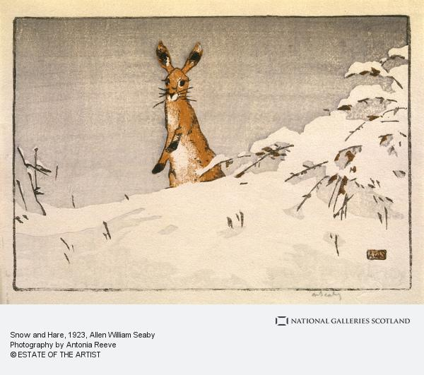 Allen William Seaby, Snow and Hare (About 1923)