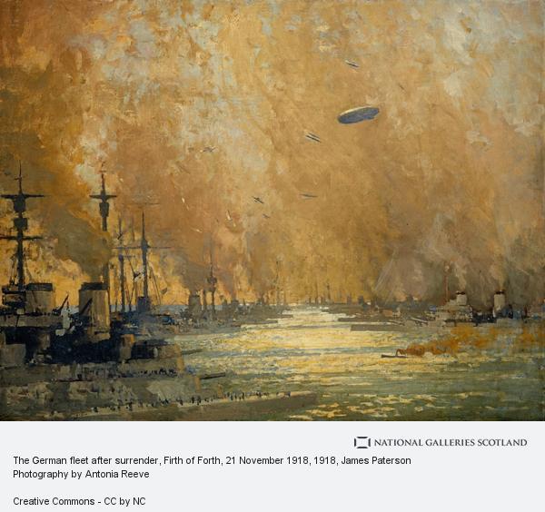 James Paterson, The German fleet after surrender, Firth of Forth, 21 November 1918 (1918)