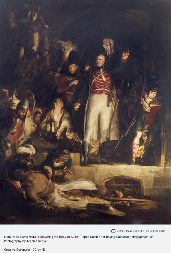 Sir David Wilkie, General Sir David Baird Discovering the Body of Sultan Tippoo Sahib after having Captured Seringapatam, on the 4th May, 1799 (1839)