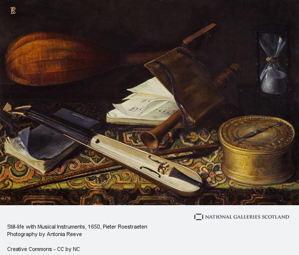 Pieter Roestraeten, Still-life with Musical Instruments