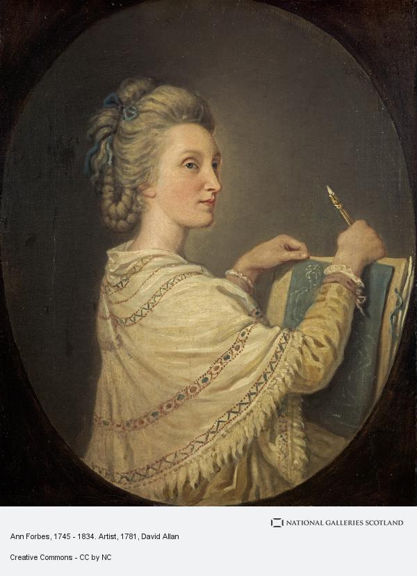 David Allan, Anne Forbes, 1745 - 1834. Artist