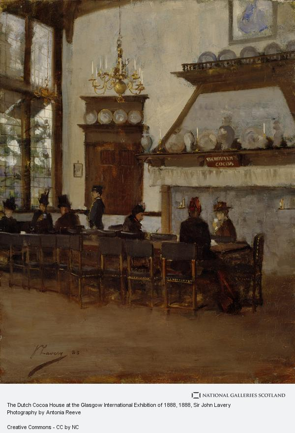 Sir John Lavery, The Dutch Cocoa House at the Glasgow International Exhibition of 1888