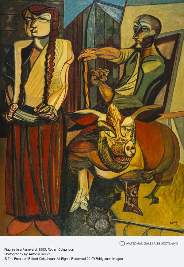 Robert Colquhoun, Figures in a Farmyard