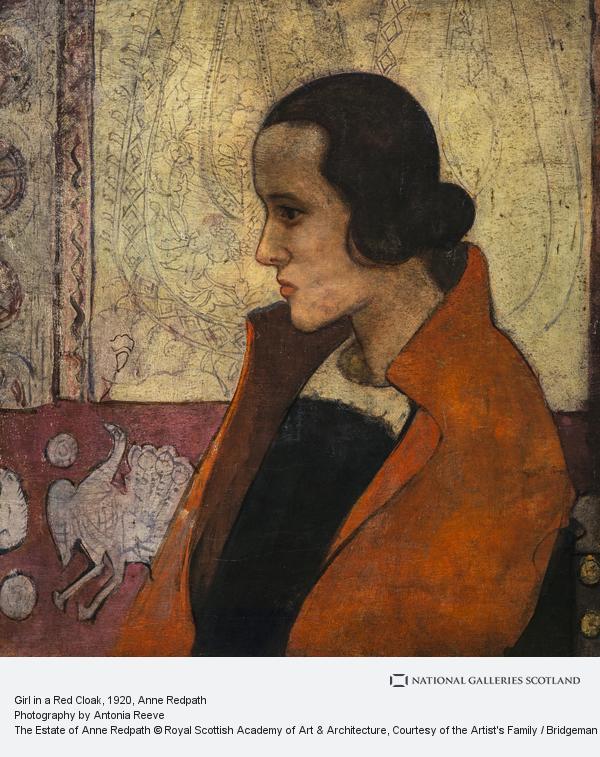 Anne Redpath, Girl in a Red Cloak