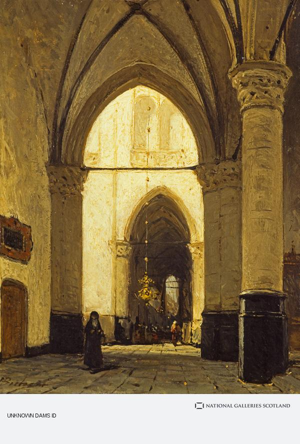 Johannes Bosboom, The Interior of Alkmaar Church (1851 - 1891)