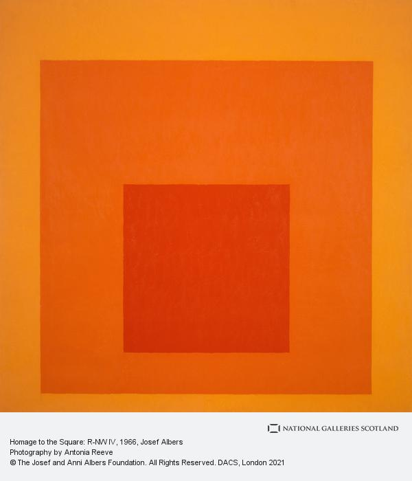 Josef Albers, Homage to the Square: R-NW IV