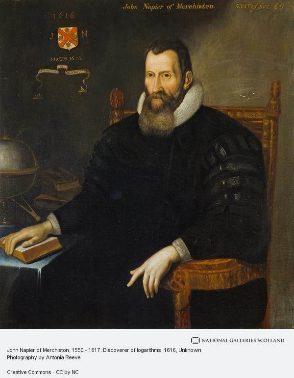 Unknown, John Napier of Merchiston, 1550 - 1617. Discoverer of logarithms (Dated 1616)