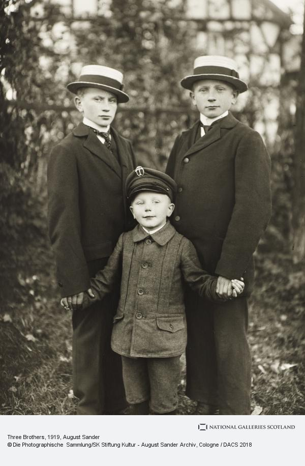 August Sander, Three Brothers, c.1919 (about 1919)