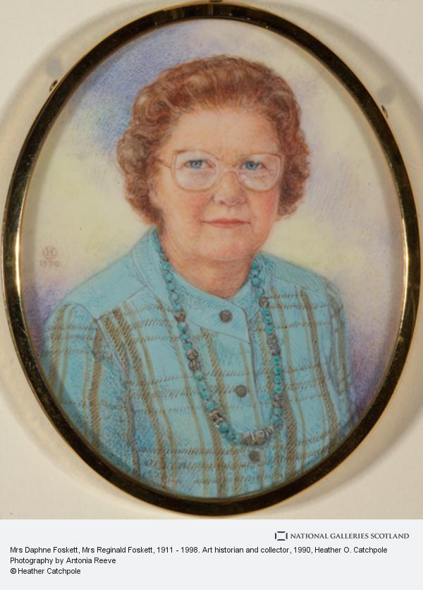 Heather O. Catchpole, Mrs Daphne Foskett, Mrs Reginald Foskett, 1911 - 1998. Art historian and collector