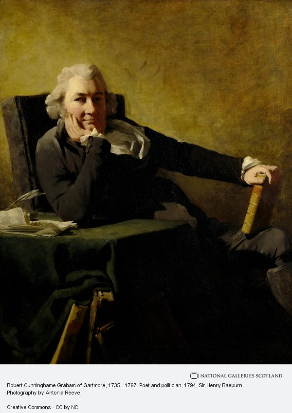 Sir Henry Raeburn, Robert Cunninghame Graham of Gartmore, d. 1797. Poet and politician
