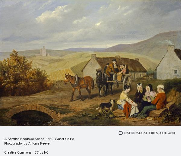 Walter Geikie, A Scottish Roadside Scene