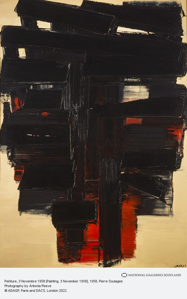 Pierre Soulages, Peinture, 3 Novembre 1958 [Paintings, 3 November 1958]