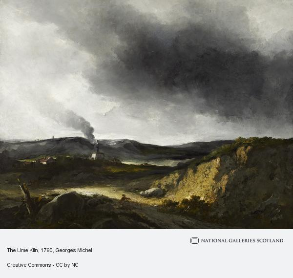 Georges Michel, The Lime Kiln (About 1790 - 1810)
